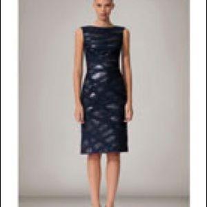 Tadashi Shoji Bateau Neck Sequin Sheath Dress